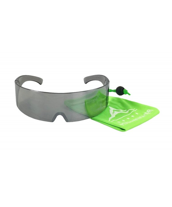 Silver Mirror Novelty Shield Sunglasses