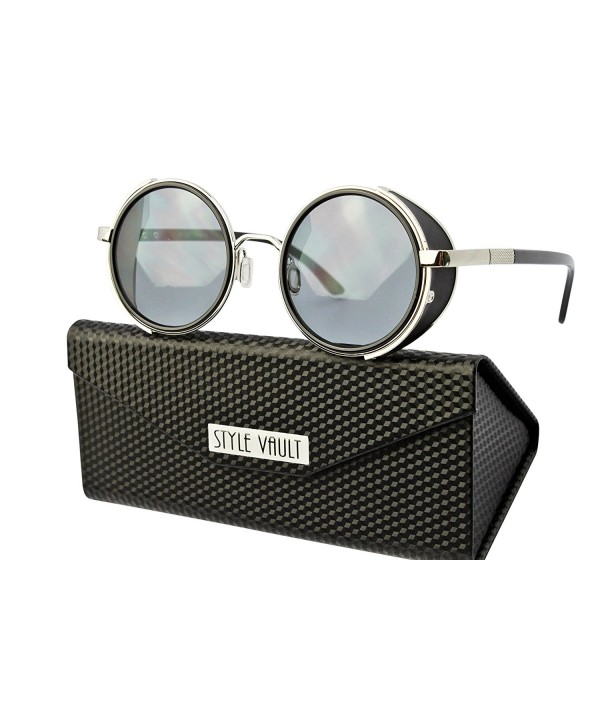 Style Vault steampunk Sunglasses Black Dark