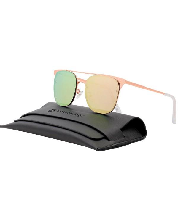 VIVIENFANG Mirrored Aviator Sunglasses 87039C