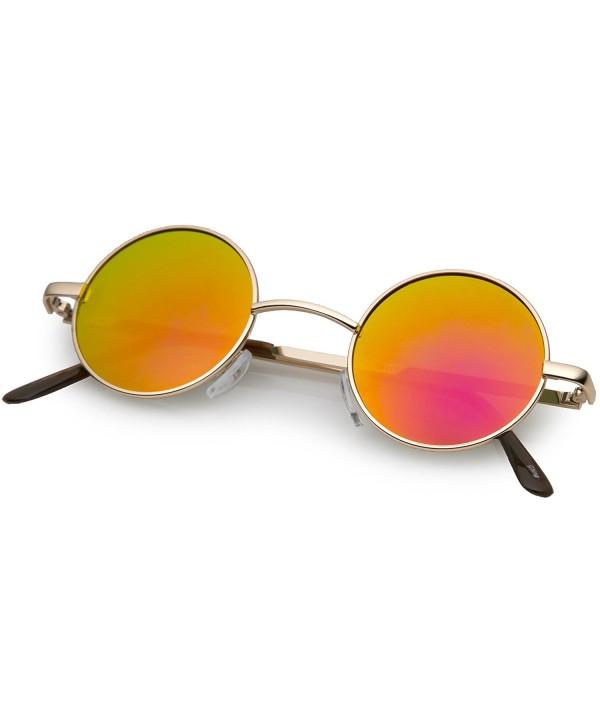 zeroUV Lennon Mirrored Circle Sunglasses