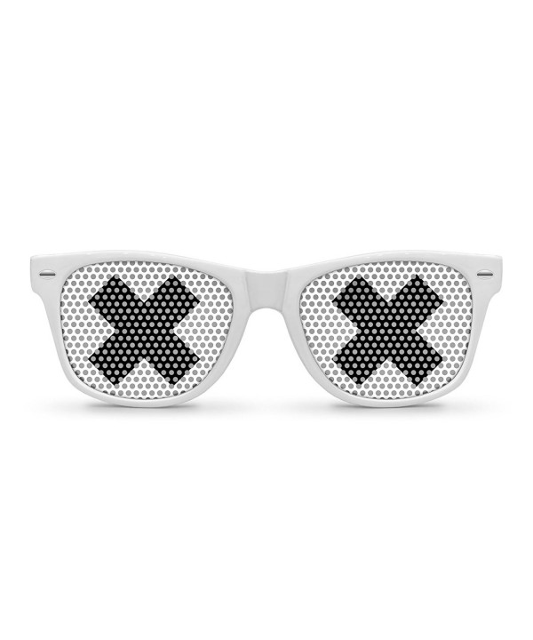 XX White Retro Party Sunglasses