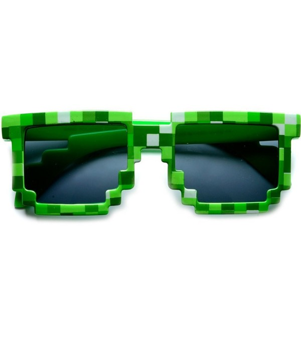 Block 8 bit Sunglasses Favors Pixel Green