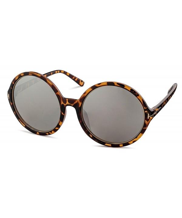 Havana Silver Mirror Stylle Sunglasses