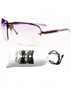 Style Vault Semi Rimless Sunglasses Purple Purple