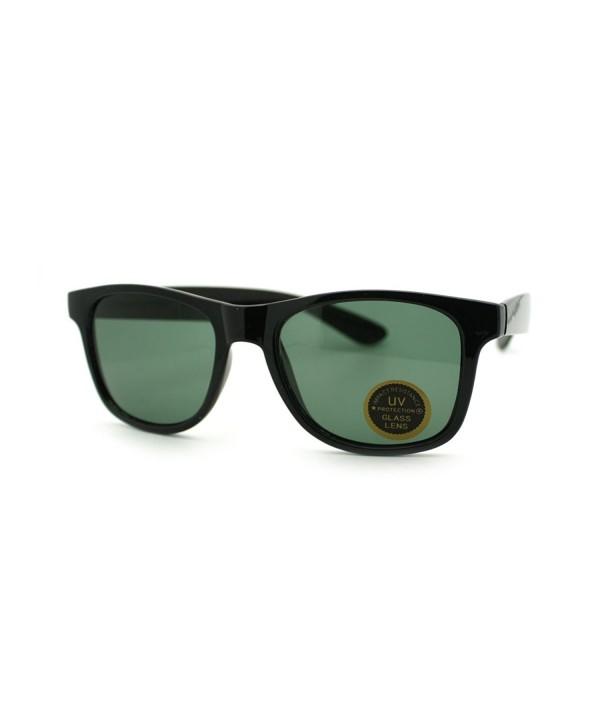 Tempered Glass horned Sunglasses Black