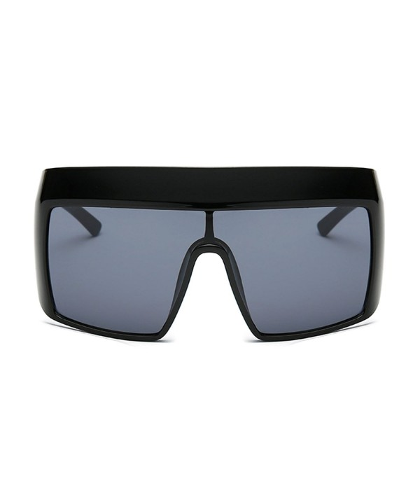 Slocyclub Fashion Mirrored Oversized Sunglasses