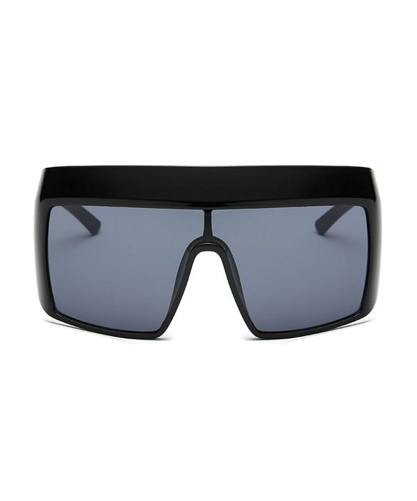 Slocyclub Fashion Mirrored Oversized Sunglasses