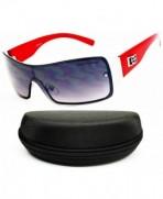 Designer Diamond Eyewear Sunglasses Red Smoked