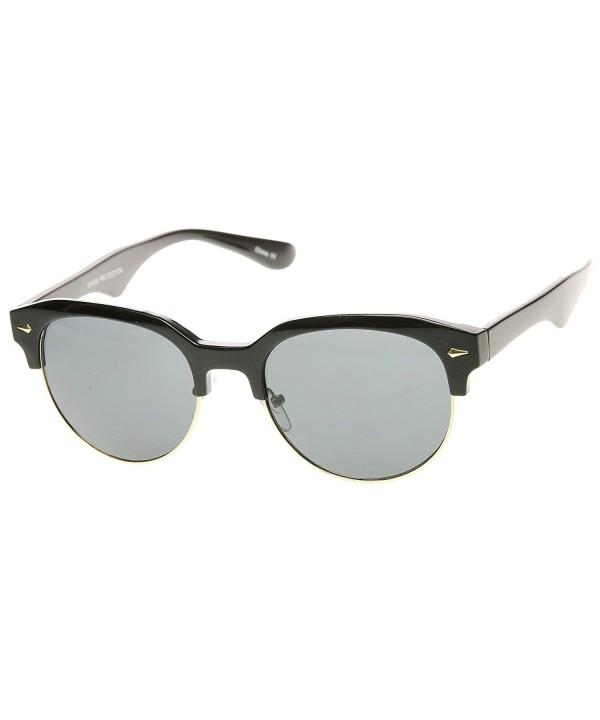 zeroUV Classic Semi Rimless Rimmed Sunglasses