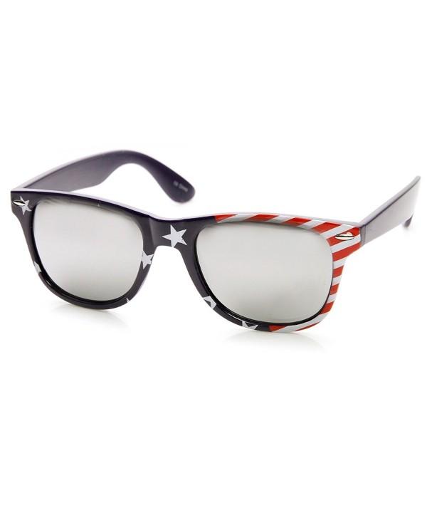 zeroUV American MIRRORED Sunglasses Stars Side