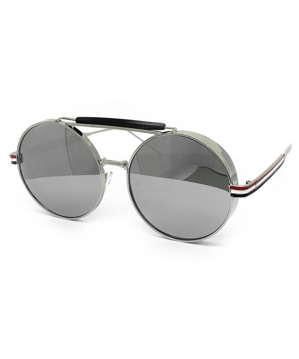 O2 Oversize Steampunk Mirrored Sunglasses