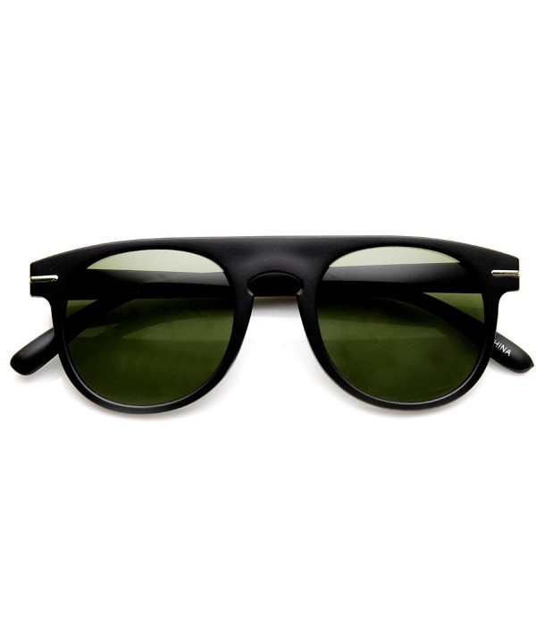zeroUV Fashion Sunglasses Matte Black Green Fade