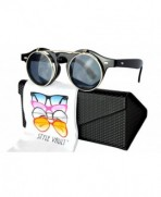 Style Vault steampunk Sunglasses Gold dark