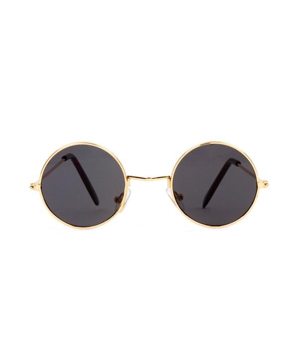 Circular Frame Style Black Sunglasses