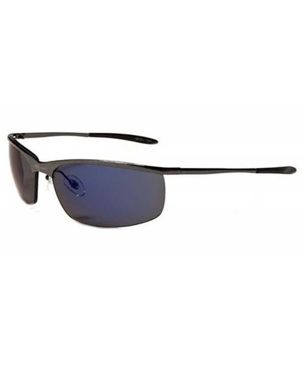 SEMI RIMLESS TRIATHLON SUNGLASSES XL46385 GUNMETAL
