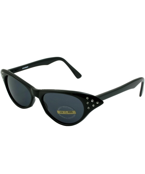 Rhinestone Party Sunglasses Black smoke
