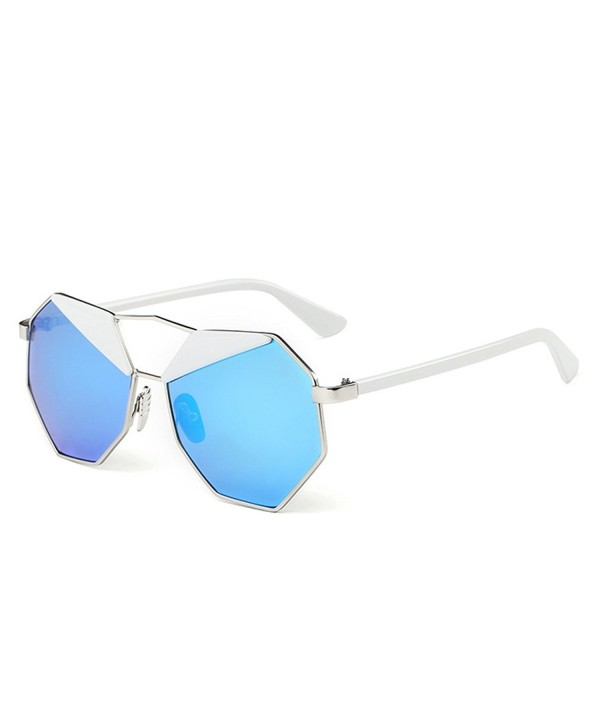 Mirrored Sunglasses Vintage Design Octagon