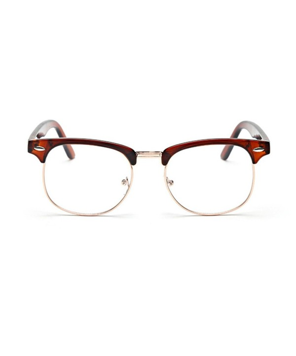 Coolsunny Rimmed Sunglasses Colored Brown Clear