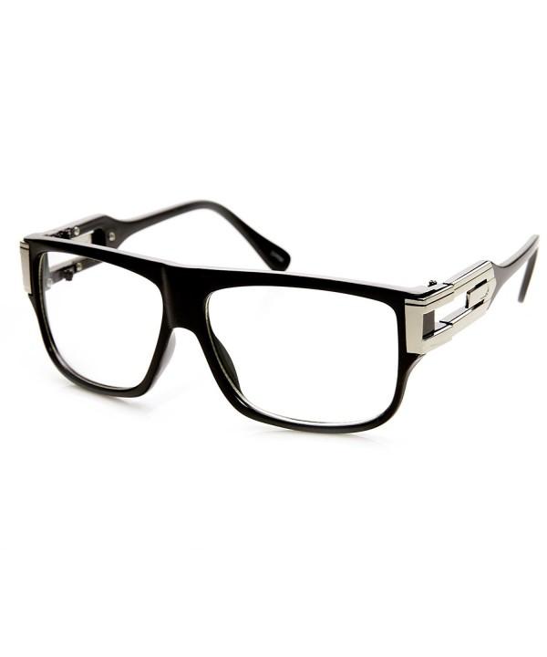 zeroUV Classic Aviator Glasses Black Silver