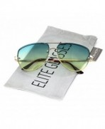 Elite Oversized Rimless Gradient Sunglasses