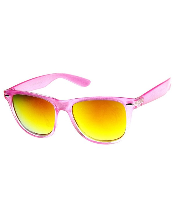 zeroUV Oversized Translucent Mirror Sunglasses