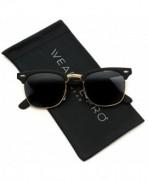 Retro Classic Metal Rimmed Sunglasses