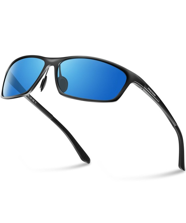 PAERDE Polarized Wayfarer Sunglasses Black blue