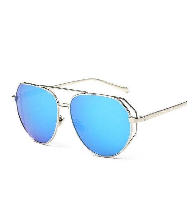 BVAGSS Classic Reflective Aviator Sunglasses