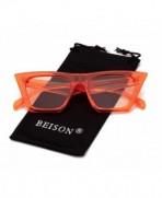 Beison Womens Square Fashion Sunglasses