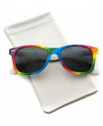 Rimmed Style Rainbow Mirrored Sunglasses