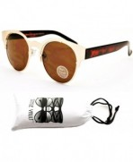Style Vault Steampunk Sunglasses Gold Brown