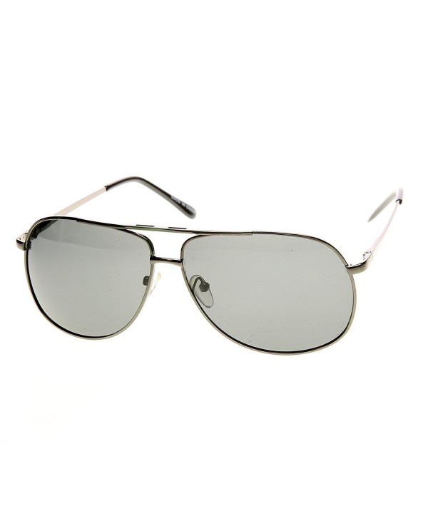 zeroUV Polarized Aviator Sunglasses Gunmetal