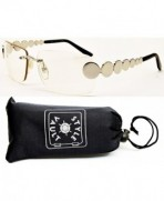 V3019 OP Style Vault Sunglasses Silver Clear