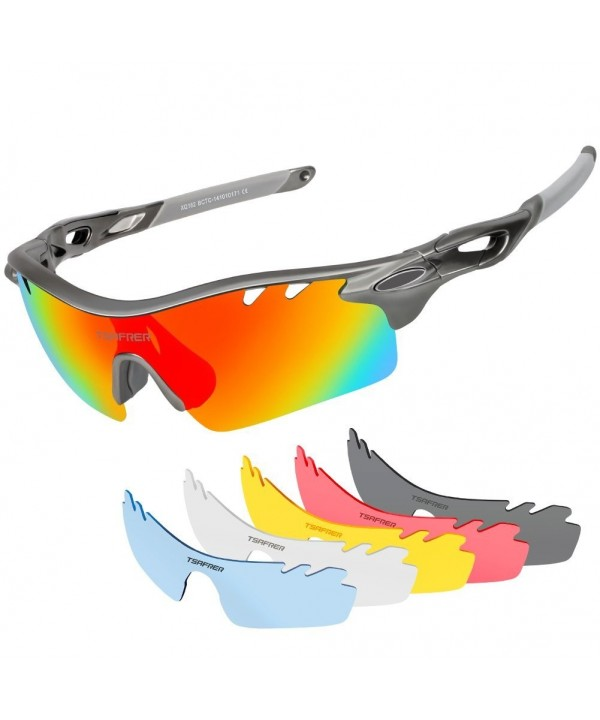 Tsafrer Polarized Sunglasses Interchangeable Unbreakable