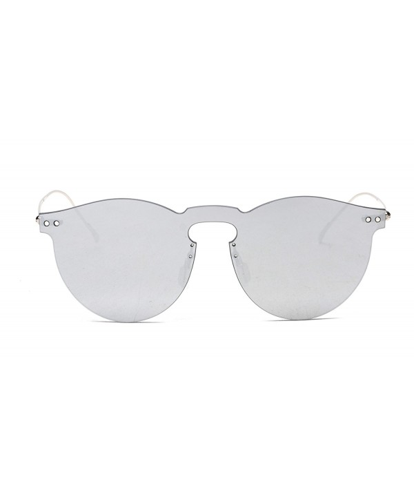 GAMT Vintage Rimless Mirrored Sunglasses
