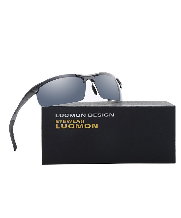 LUOMON LM8177 Polarized Wrap Around Sunglasses
