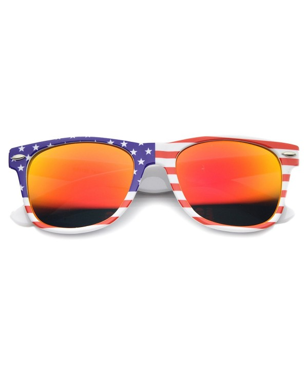 zeroUV Patriotic Mirrored Sunglasses American