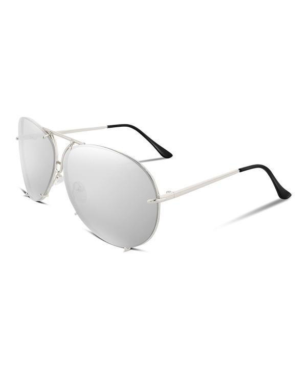 FEISEDY Stylish Aviator Oversized Sunglasses
