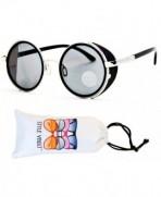 Style Vault Steampunk Sunglasses Silver Dark