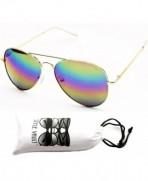 A120 vp Aviator Sunglasses Unisex Gold Rainbow