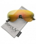 zeroUV Futuristic Rimless Aviator Sunglasses