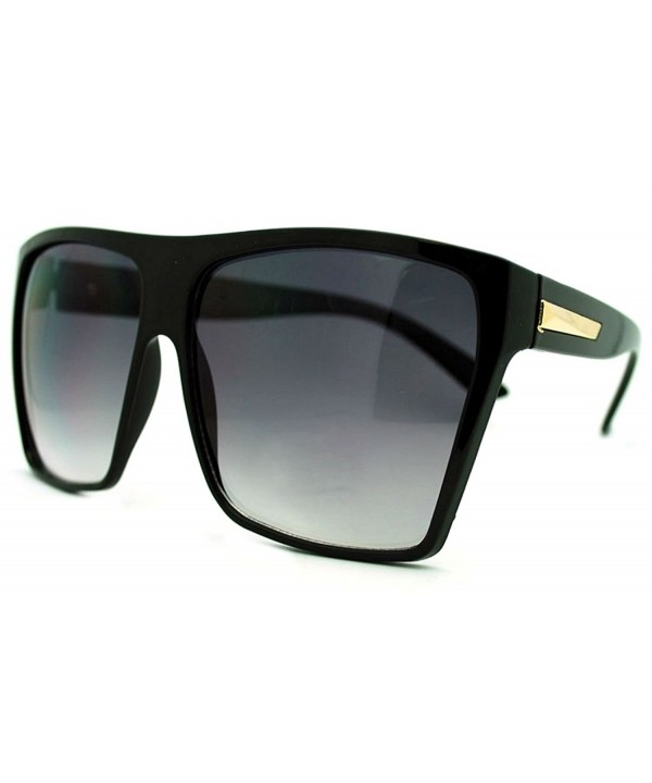 Oversized Fashion Square Sunglasses Black Gold