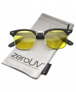 zeroUV Polarized Semi Rimless Sunglasses Matte Black