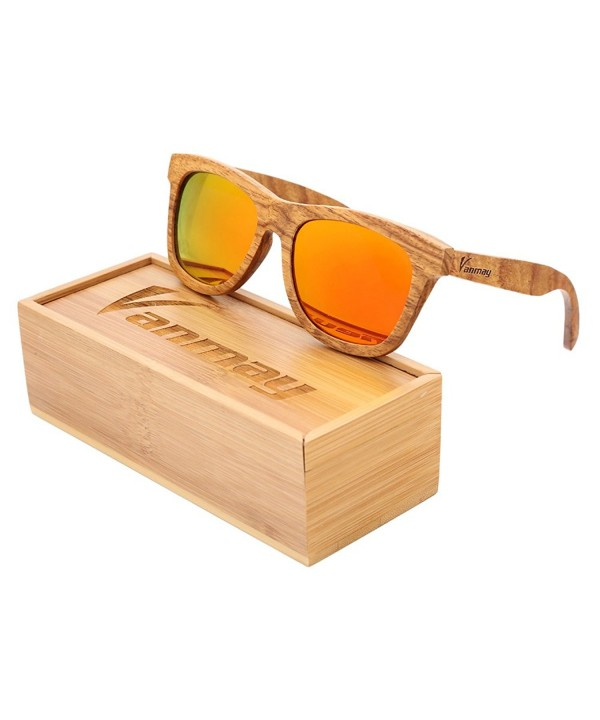 Vanmay Handcrafted Polarized Zebrawood Sunglasses