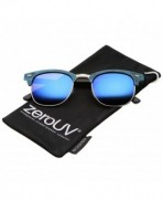 zeroUV Modern Textured Sunglasses Blue Gold