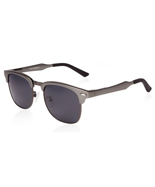 SUNGAIT Clubmaster Sunglasses Polarized Gunmetal