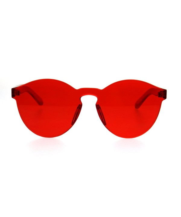 Polycarbonate Rimless Keyhole Horned Sunglasses