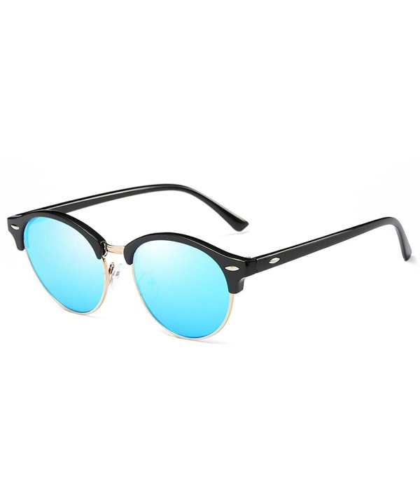HOHAUSA Rimless Polarized Clubmaster Sunglasses