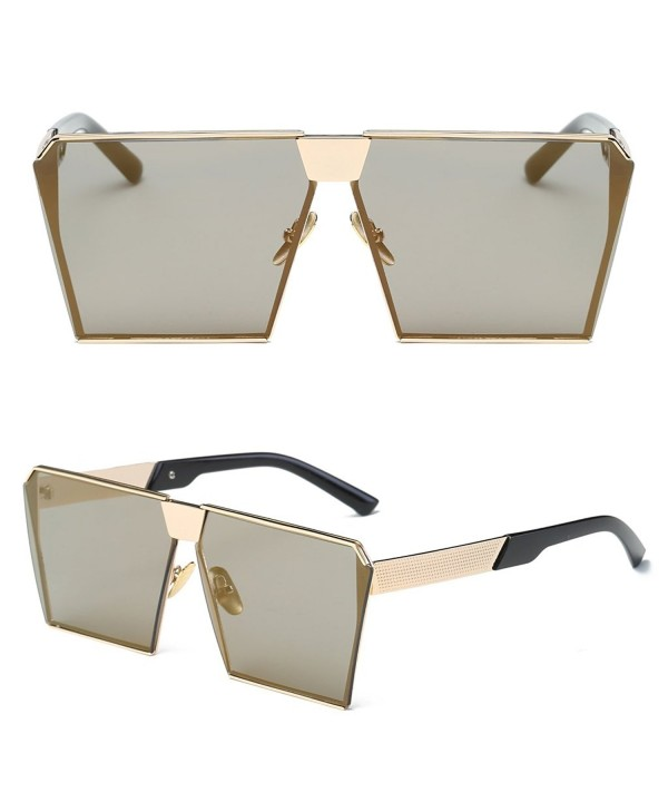 Doober Oversized Mirrored Sunglasses Eyeglasses