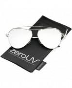 zeroUV Modern Colored Aviator Sunglasses